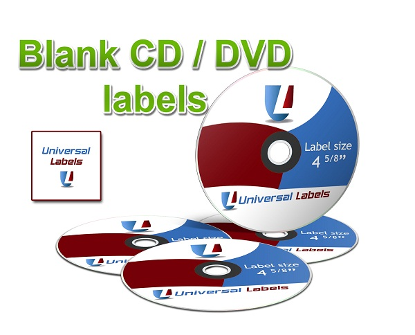 universal laser printer labels template - 2 cd dvd labels 4 spines per sheet universallabels